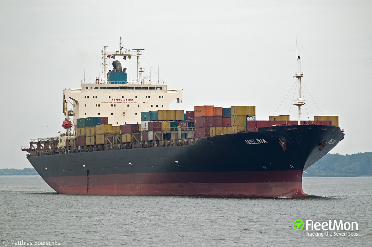 Vessel MELINA (Container ship) IMO 9122605, MMSI 372706000