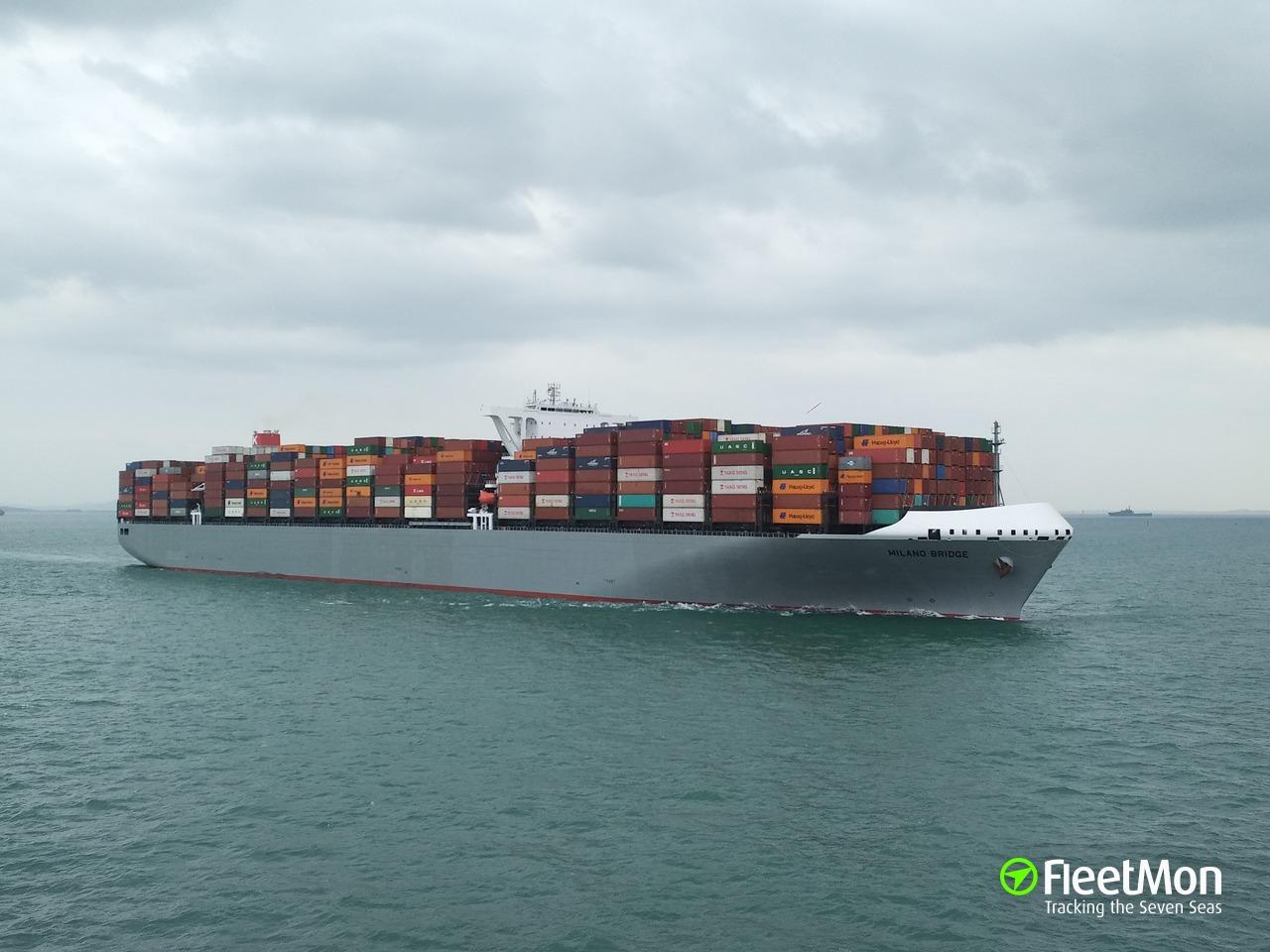 Navire MILANO BRIDGE (Porte-conteneurs) IMO 9757187, MMSI ...