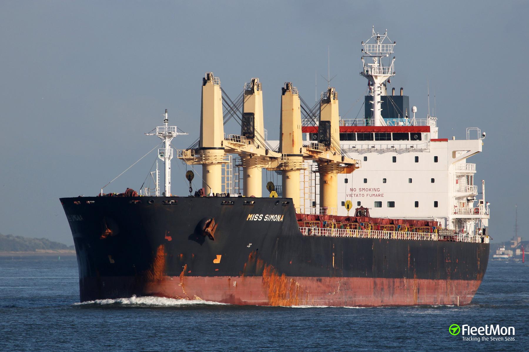 Master of an Italian bulk carrier MISS SIMONA medevaced