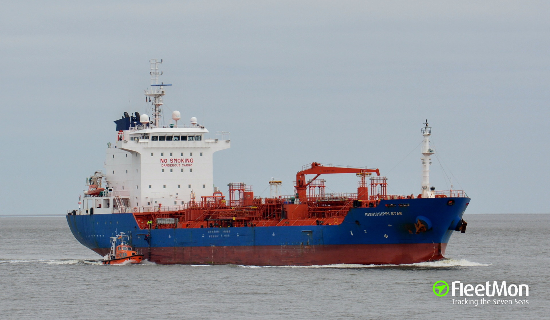 Fire in engine room tanker Mississippi Star, North sea