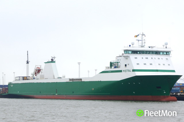 Ro-ro ferry stranded on Dublin Anchorage, not clear why