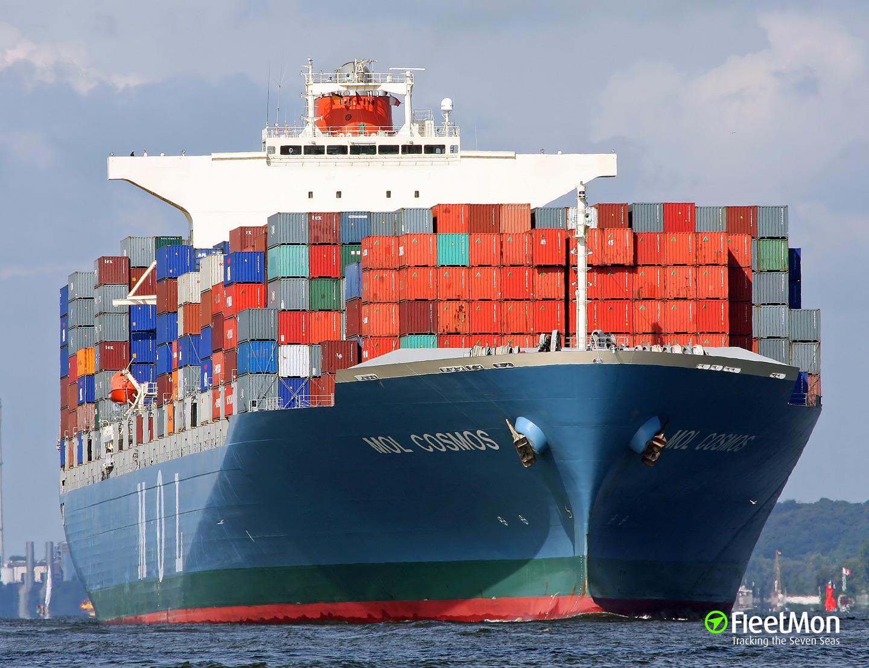 Boxship MOL Cosmos in trouble in Arabian sea