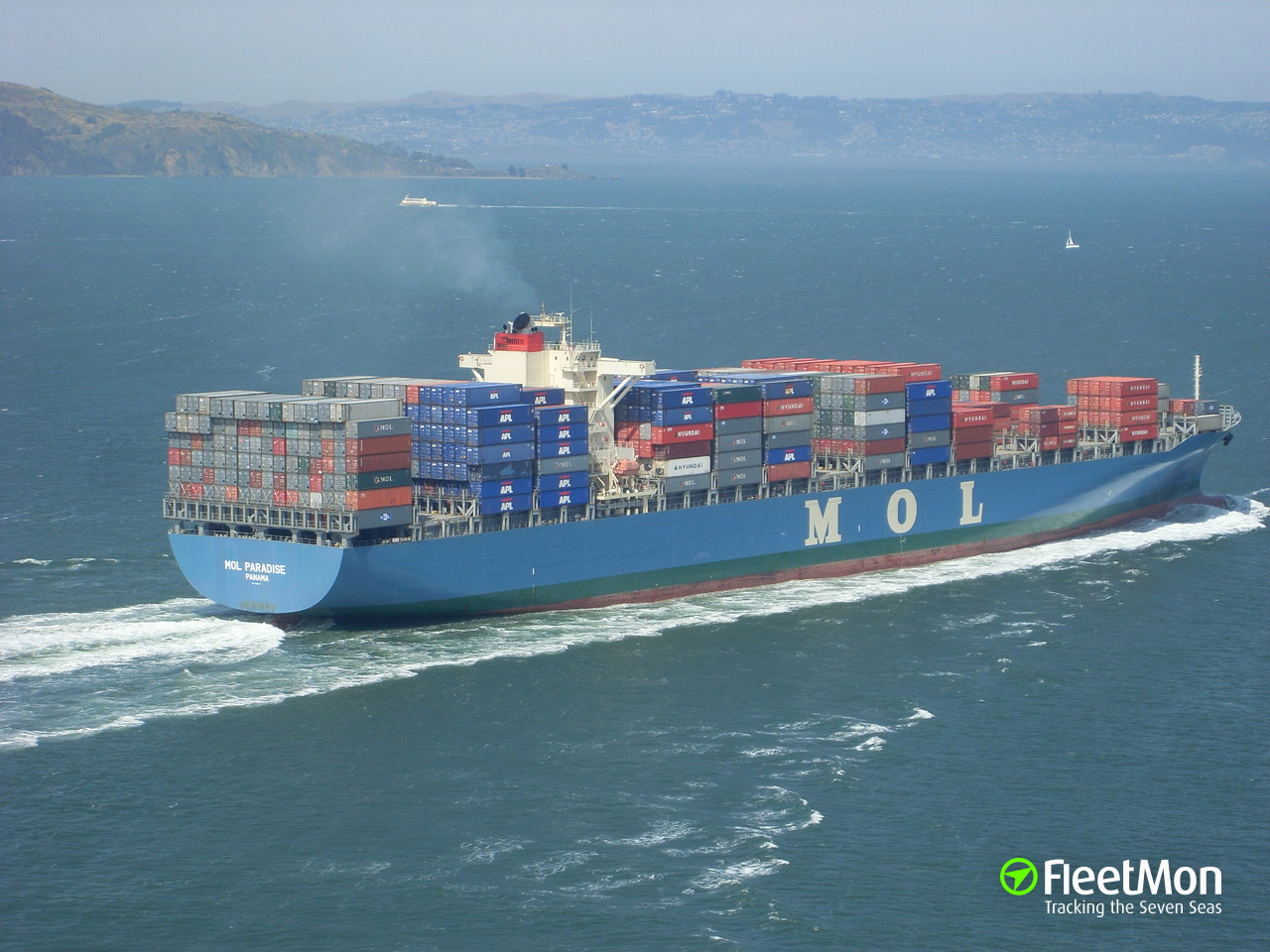 Vessel MOL PARADISE (Container ship) IMO 9307047, MMSI 565555000