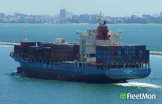 Vessel MOL SUCCESS (Container ship) IMO 9472581, MMSI 355232000
