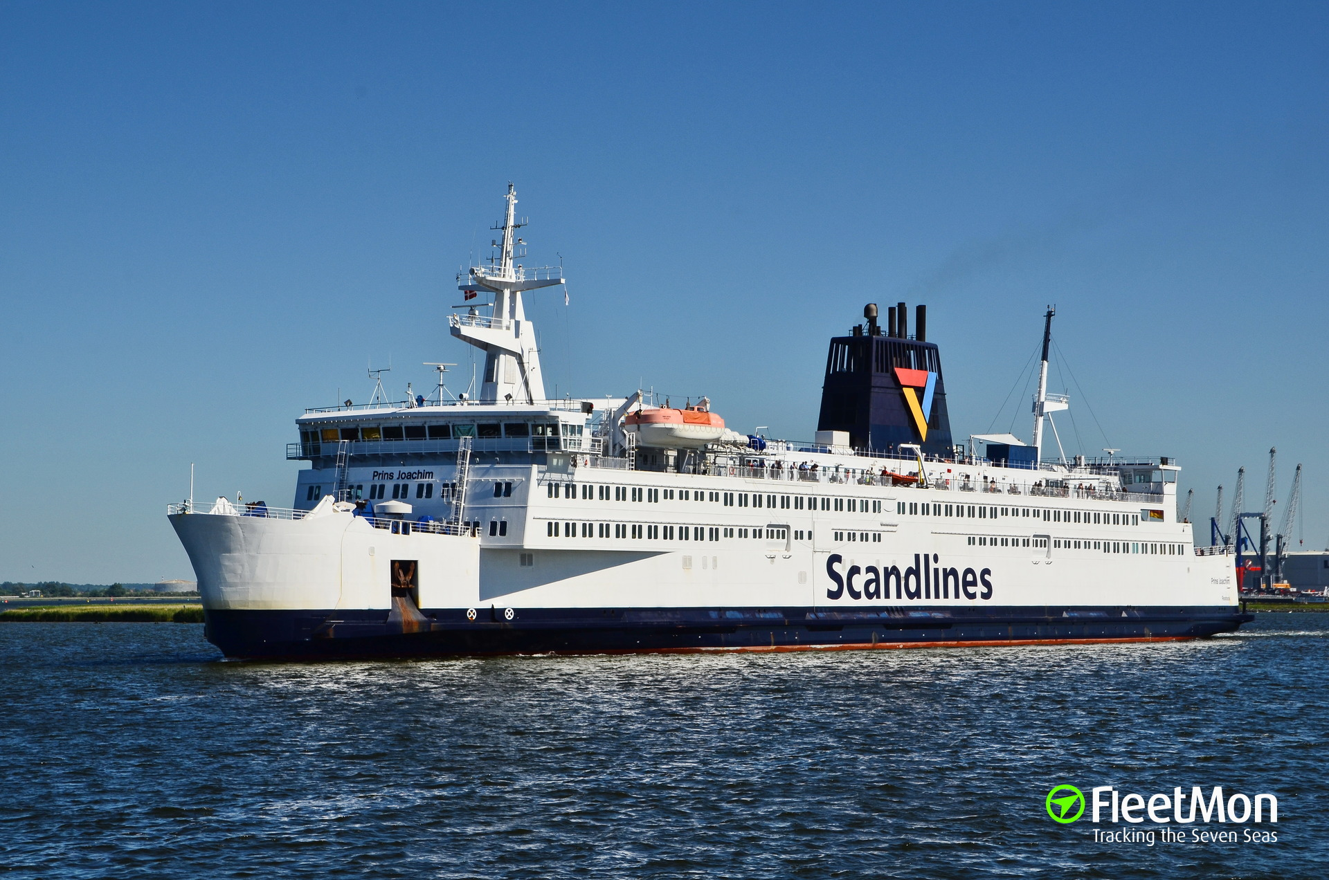 Small fire on board of ferry Prins Joachim