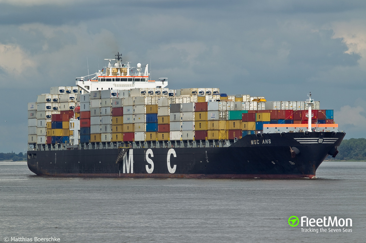 Vessel MSC ANS (Container ship) IMO 9282261, MMSI 353873000