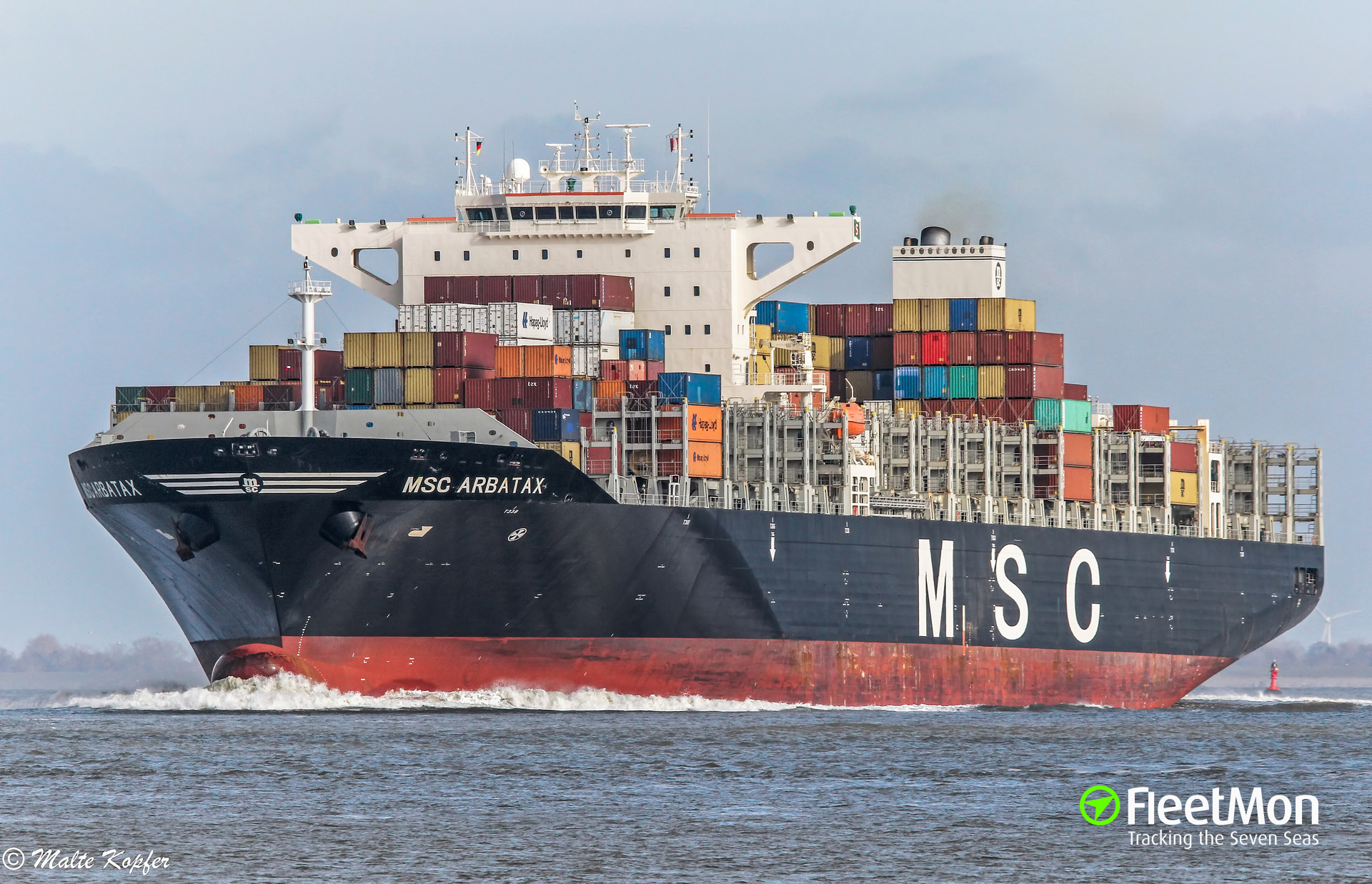 Schulte Group takes delivery of MSC ARBATAX (9,403 teu)