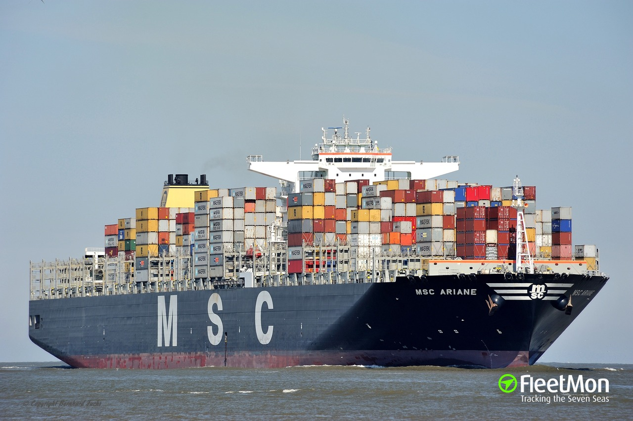 Vessel MSC ARIANE (Container ship) IMO 9484443, MMSI 373355000