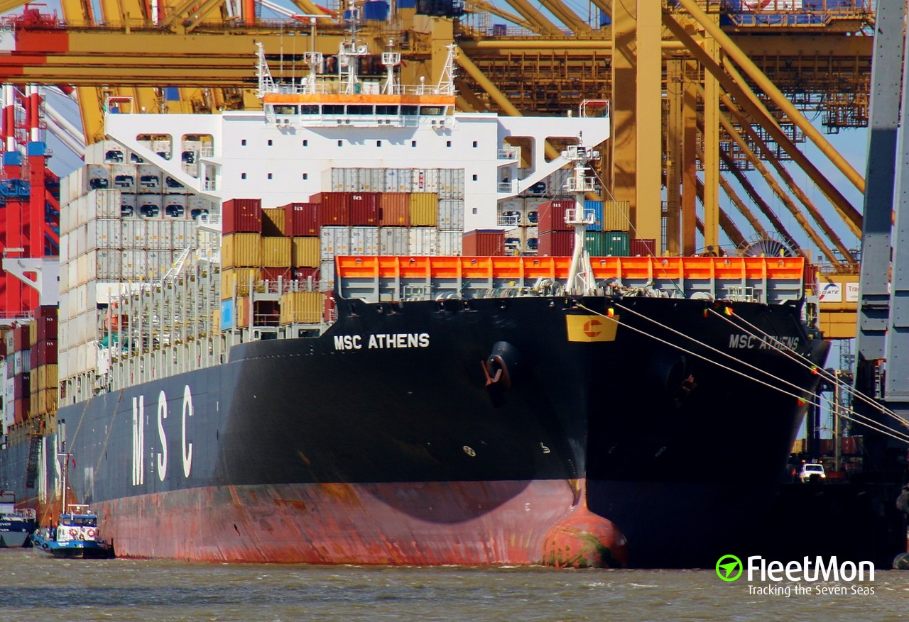 Vessel MSC ATHENS (Container ship) IMO 9618305, MMSI 256858000