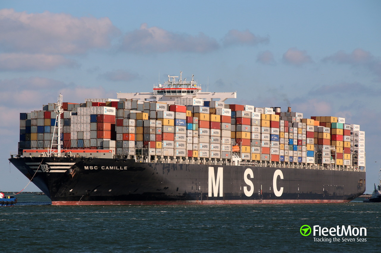 Vessel MSC CAMILLE (Container ship) IMO 9404651, MMSI 354625000