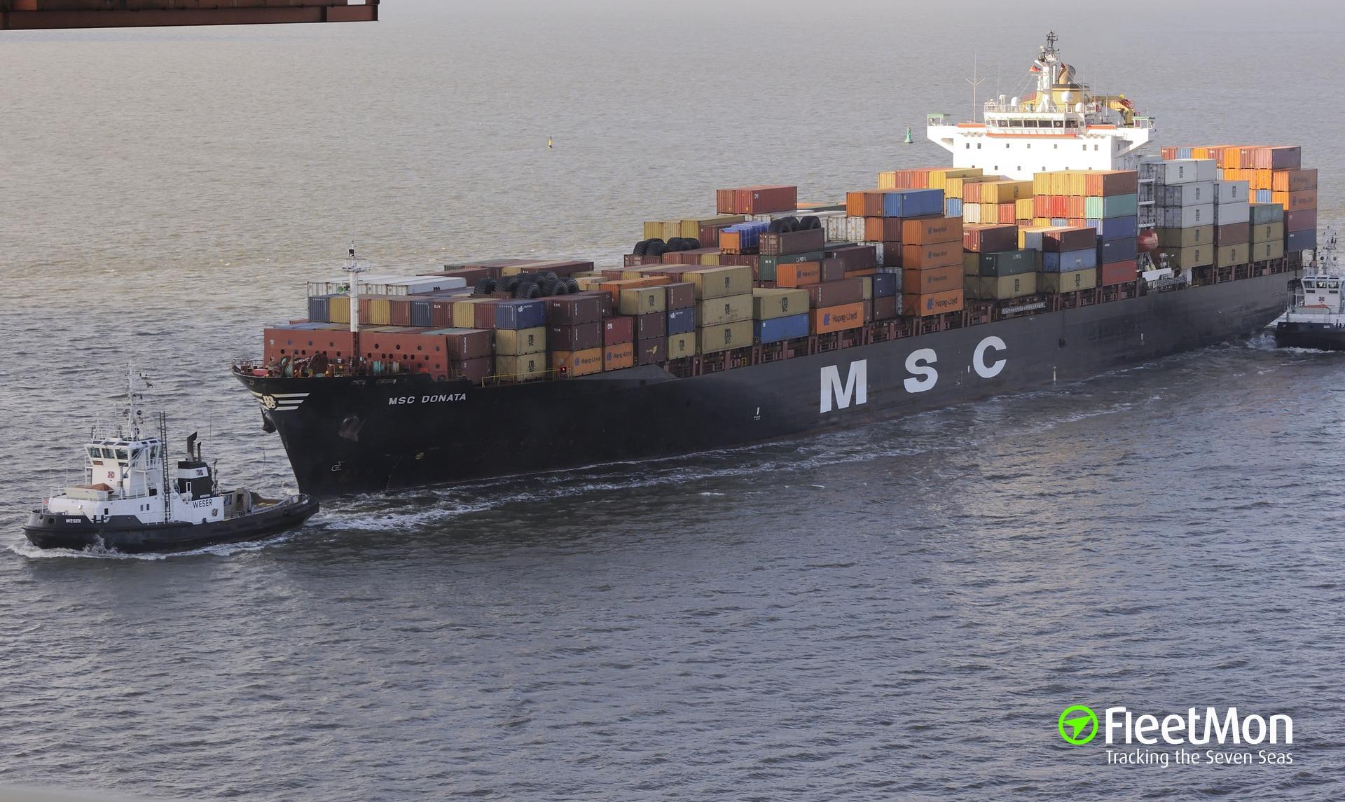 Container ships collision: IAPETOS vs. MSC DONATA