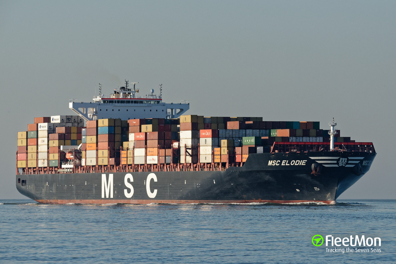 msc elodie (container ship) imo 9704972
