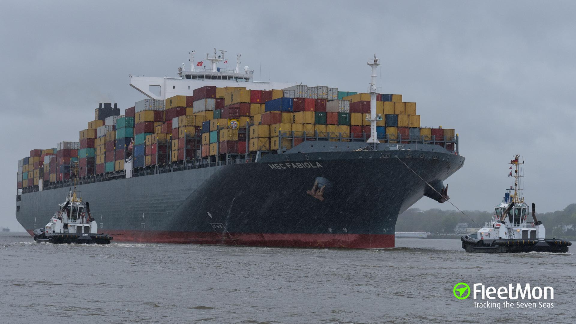 Mega container ship MSC FABIOLA hard aground in Suez Canal: UPDATE