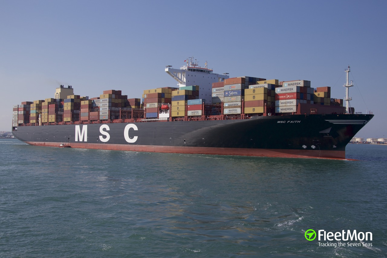 Vessel MSC FAITH (Cargo ship) IMO 9842085, MMSI 636019213