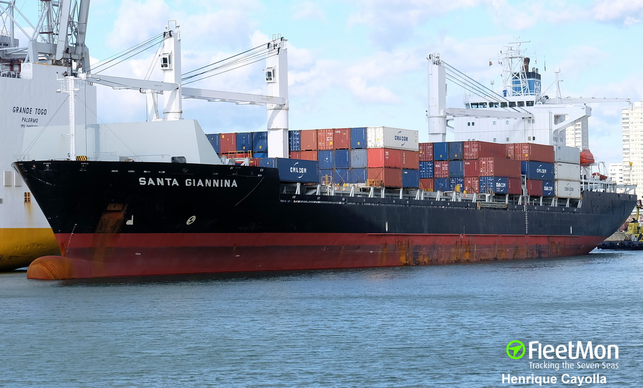 Captain of MSC GIANNINA missing at sea