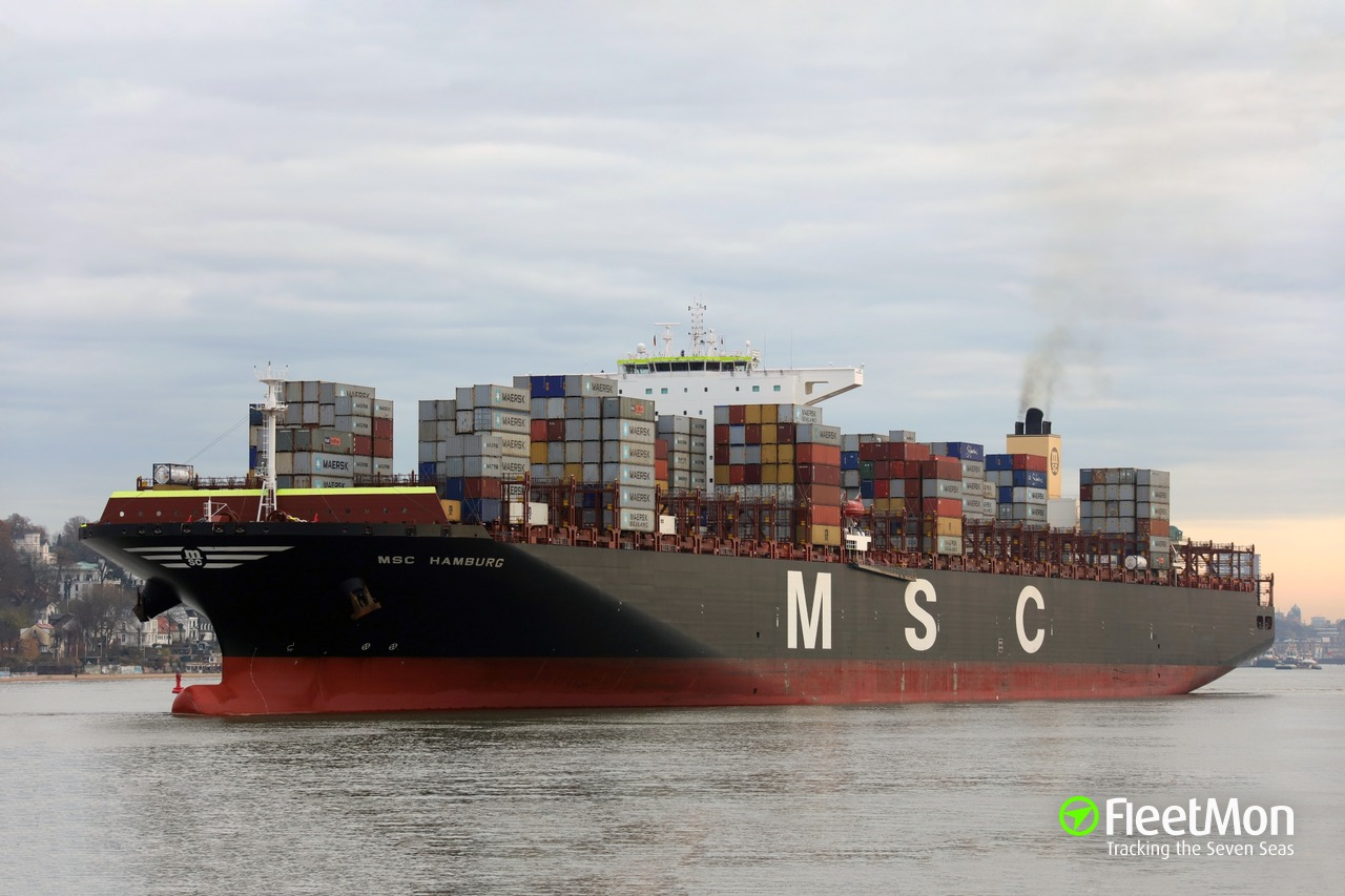msc hamburg (container ship) imo 9647461