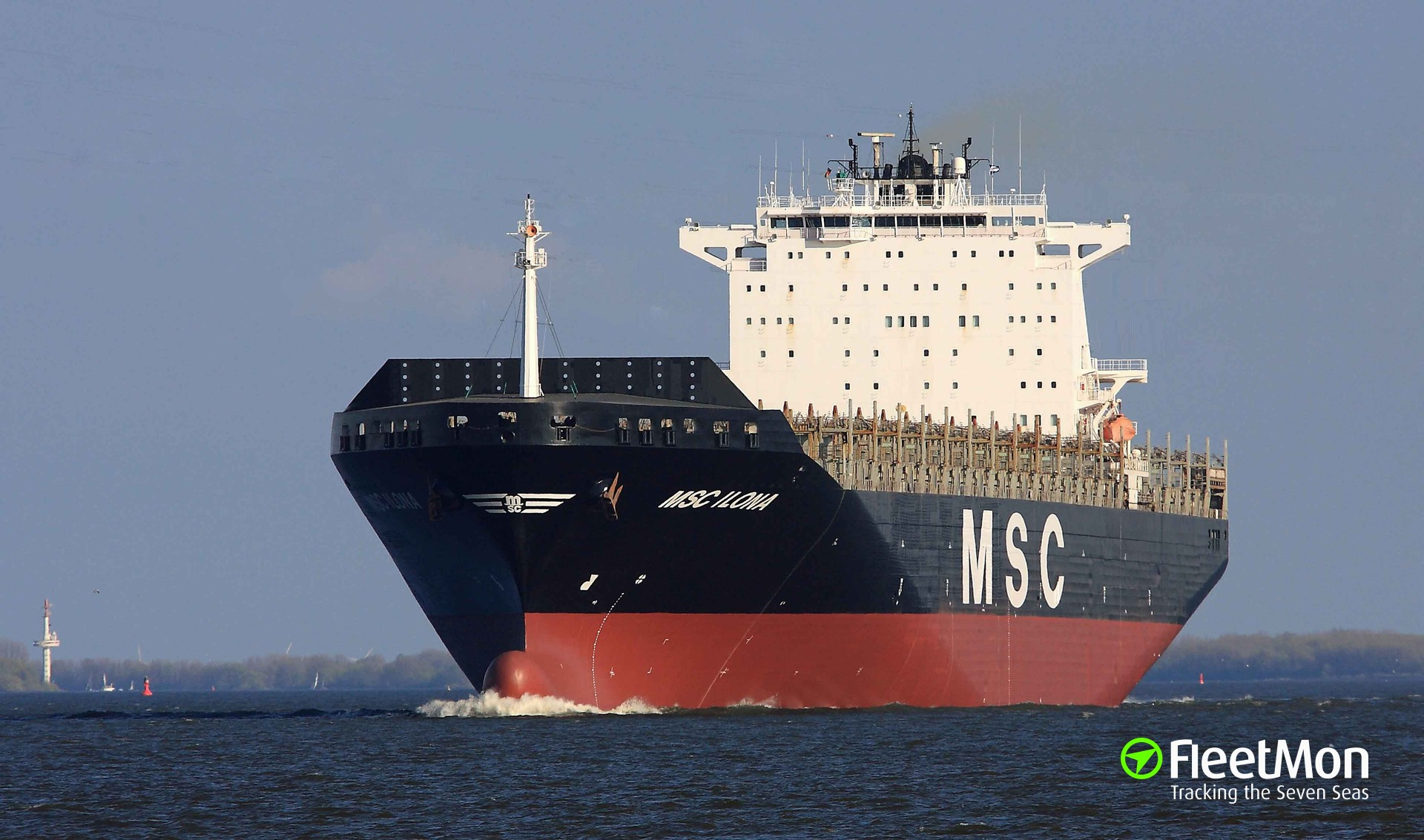 Container ship MSC Ilona blackout