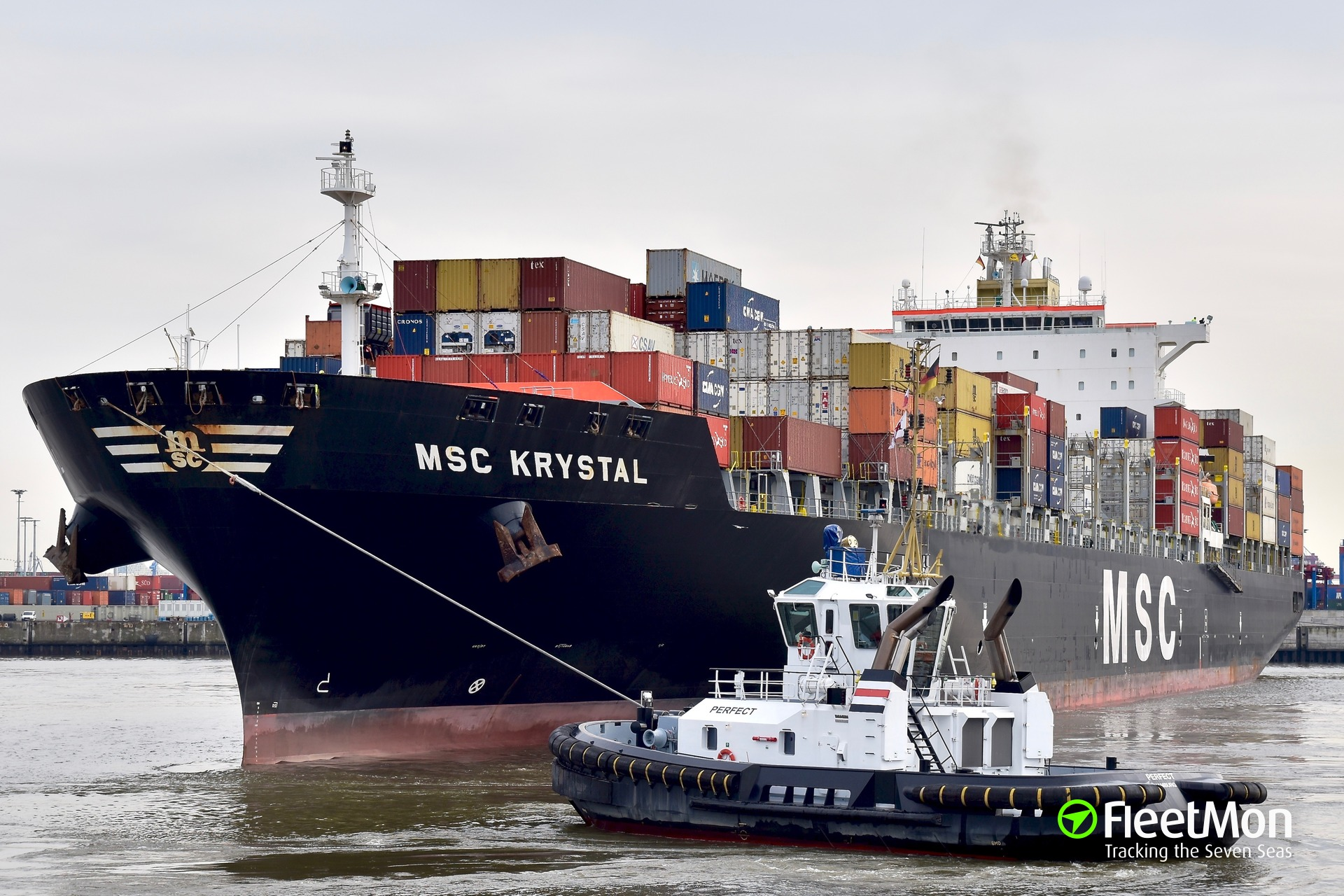 350 kilo of cocaine found on MSC Krystal, Brazil