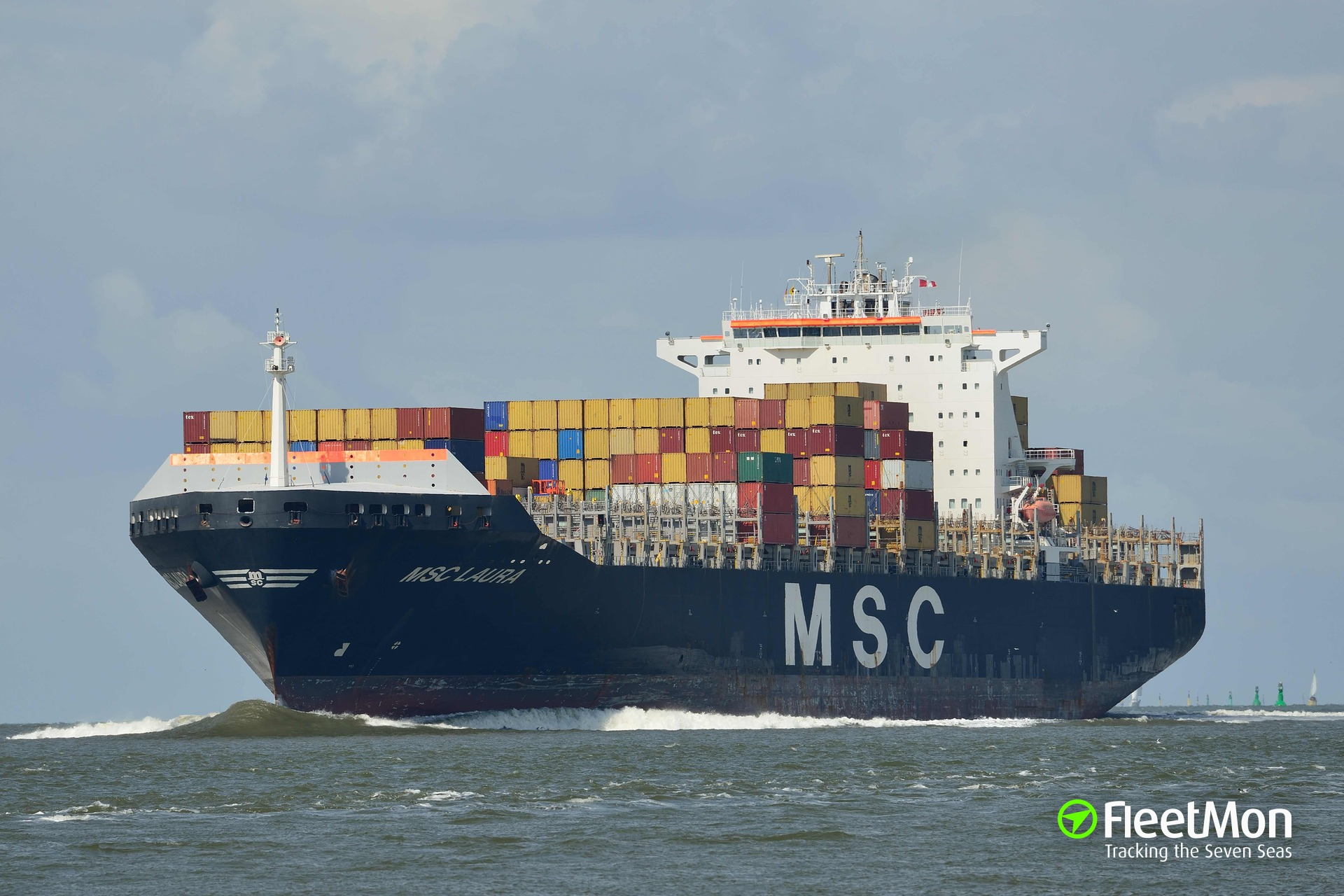 Fire on board of boxship MSC Laura, Constanta