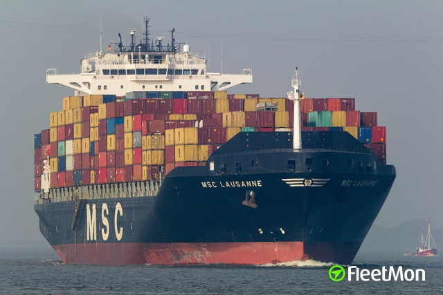 Container ship MSC LAUSANNE coronavirus fears victim. UPDATE.