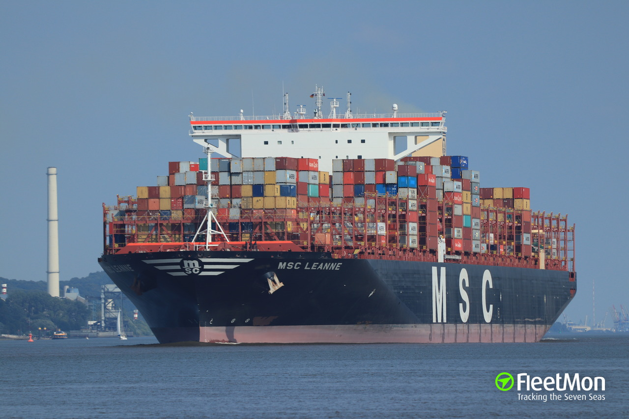Vessel MSC LEANNE (Container ship) IMO 9767390, MMSI 636017686