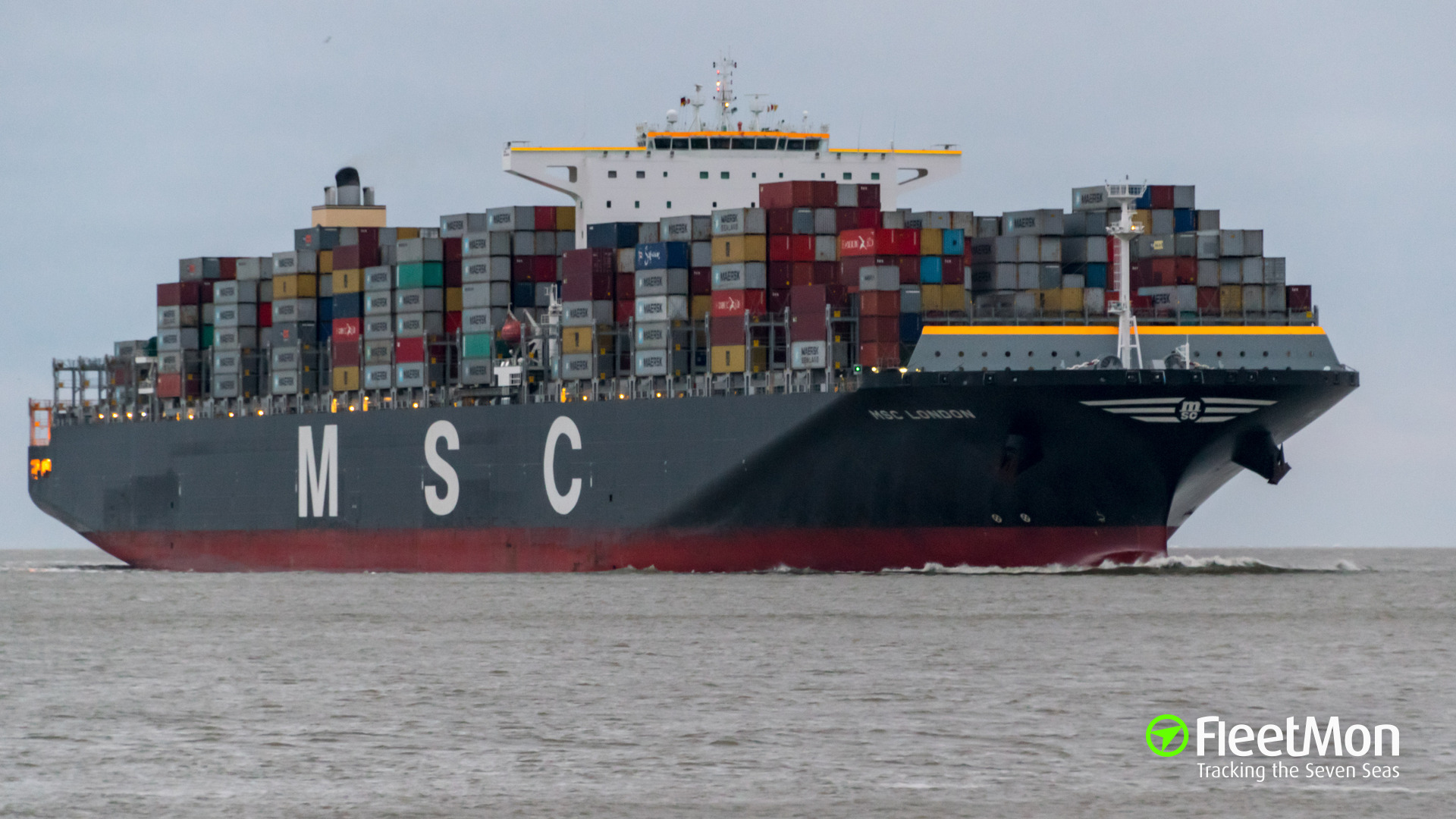 Ultra-large container ship MSC LONDON fire UPDATE