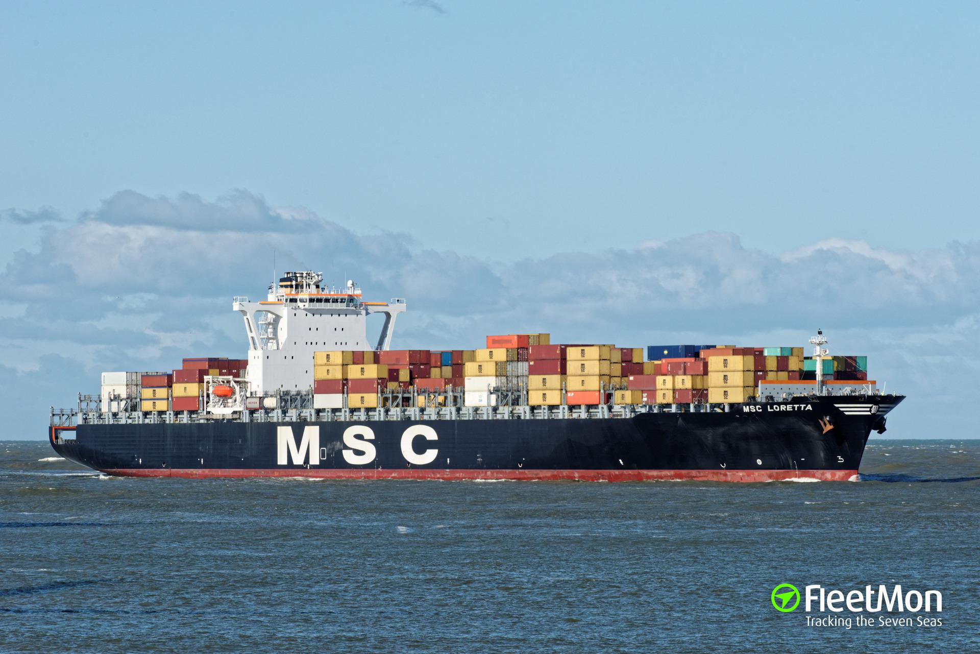 Drugs found on board of MSC Loretta