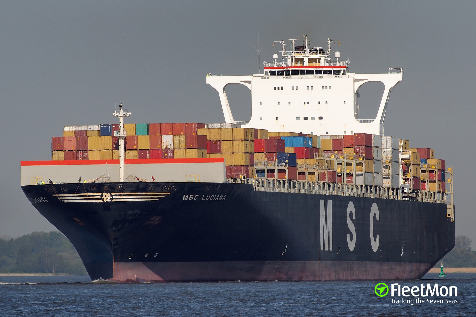 Very Large Container Ship MSC LUCIANA collided with Chinese freighter