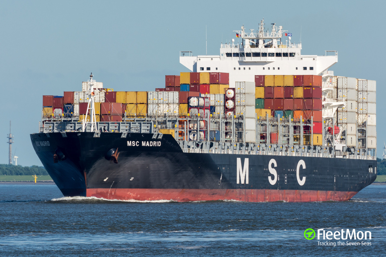 Vessel MSC MADRID (Container ship) IMO 9480198, MMSI 636092270
