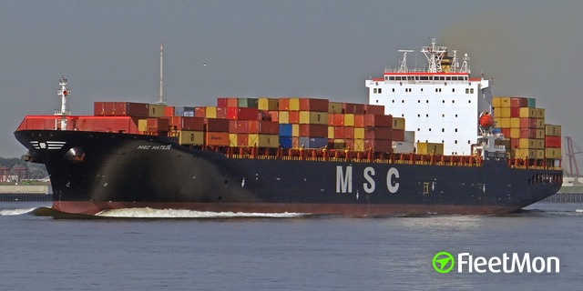 ​Container ship MSC MATILDE listed in Liverpool, crew left the ship