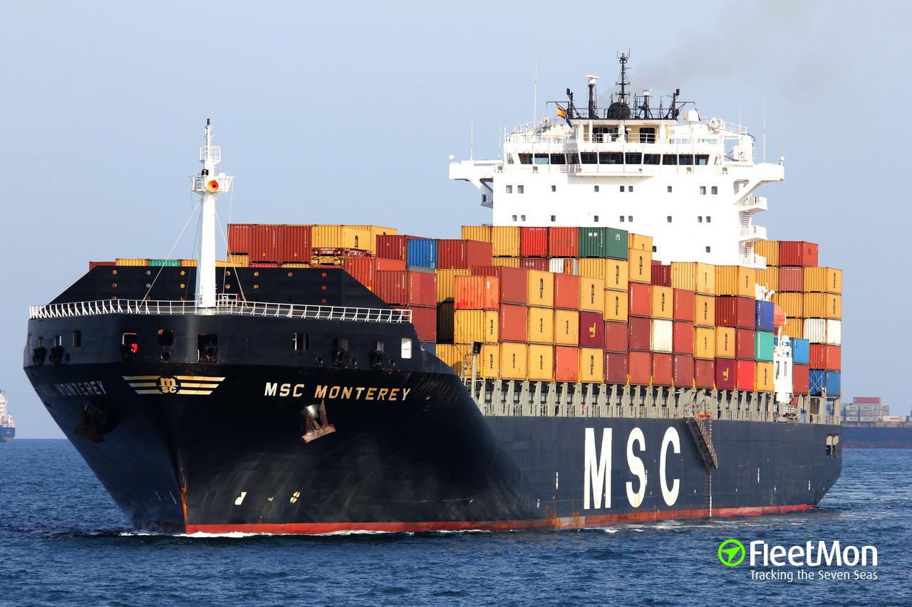 Msc Monterey Container Ship Imo 9349796