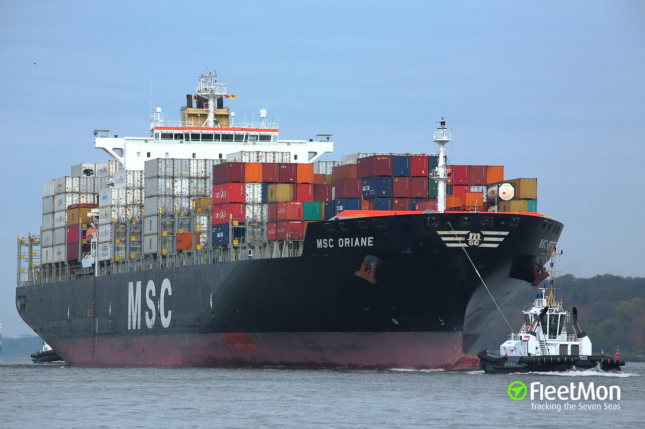 msc oriane (container ship) imo 9372482