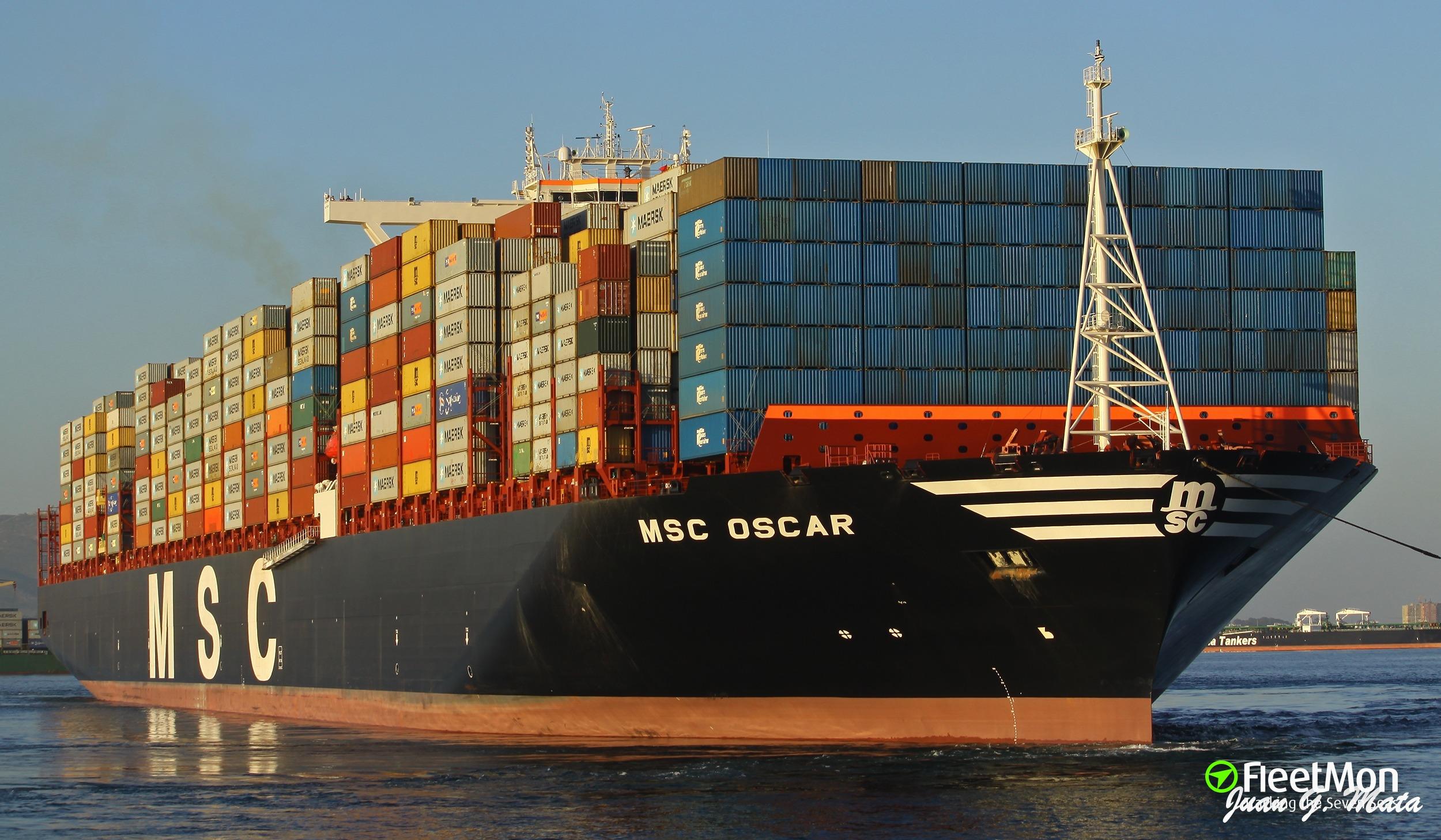 Photo of MSC OSCAR (IMO: 9703291, MMSI: 355906000, Callsign: 3FBT7 ...