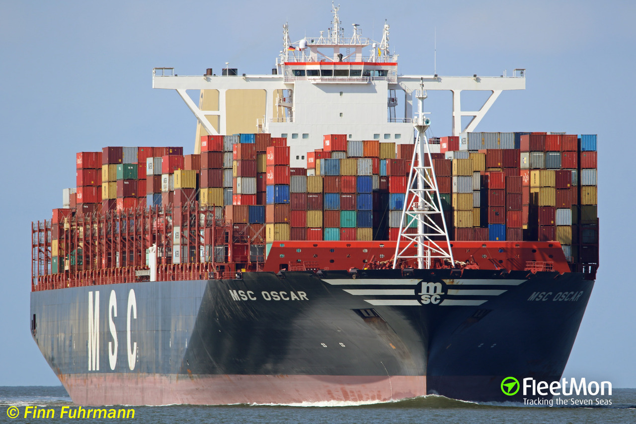 Vessel MSC OSCAR (Container ship) IMO 9703291, MMSI 355906000