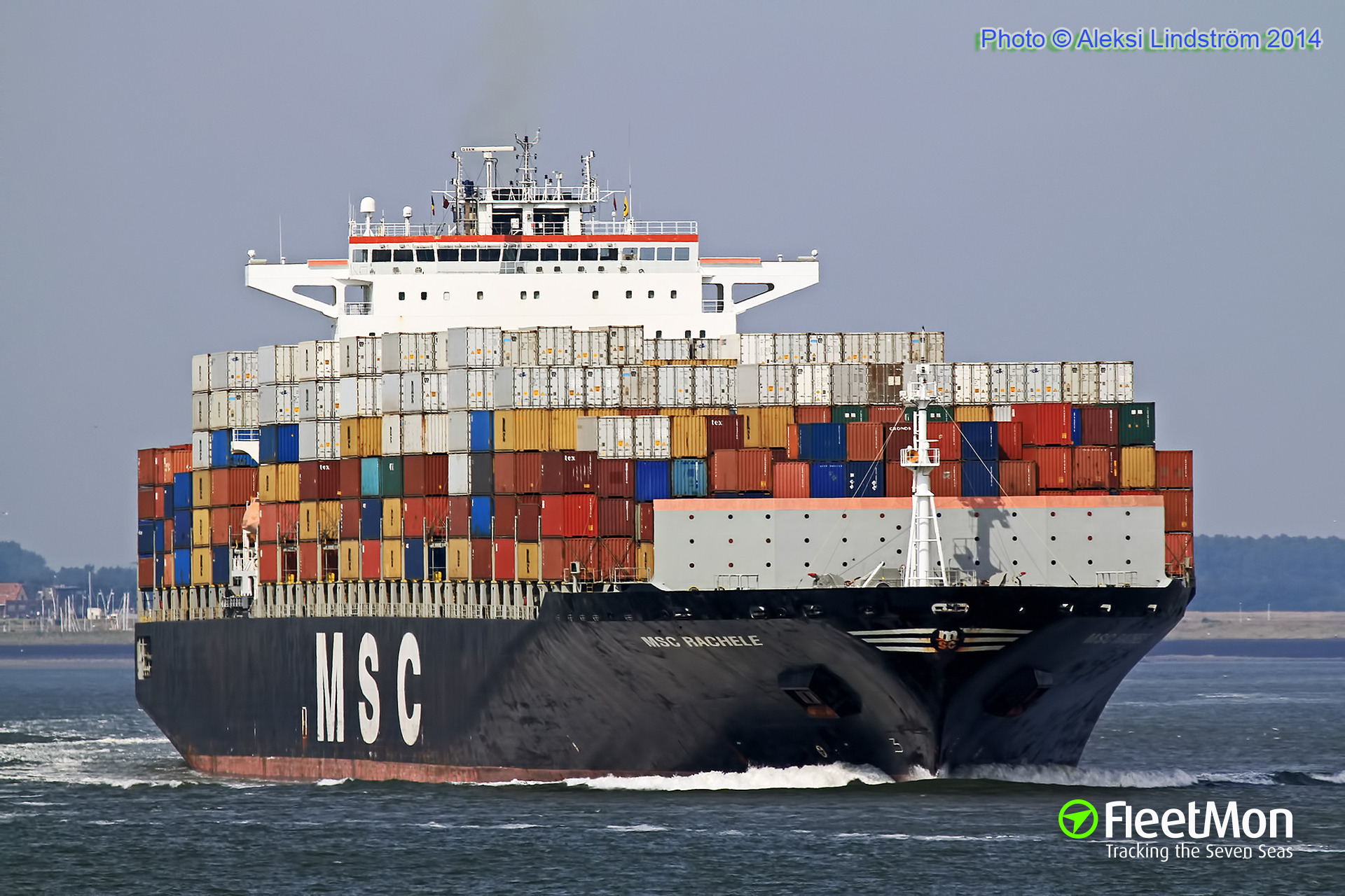 Container ship MSC Rachele grounding