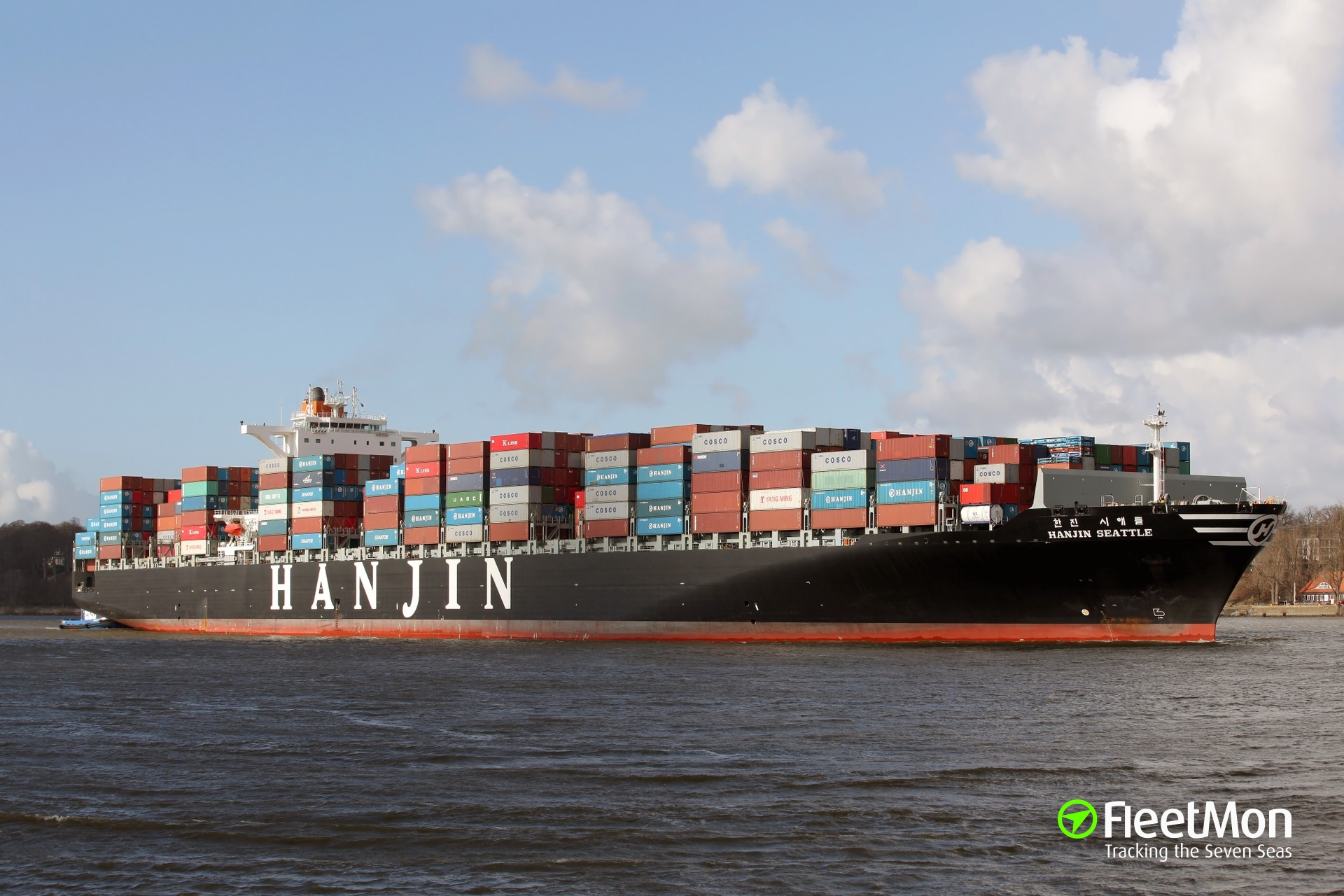 HANJIN SEATTLE containers loss