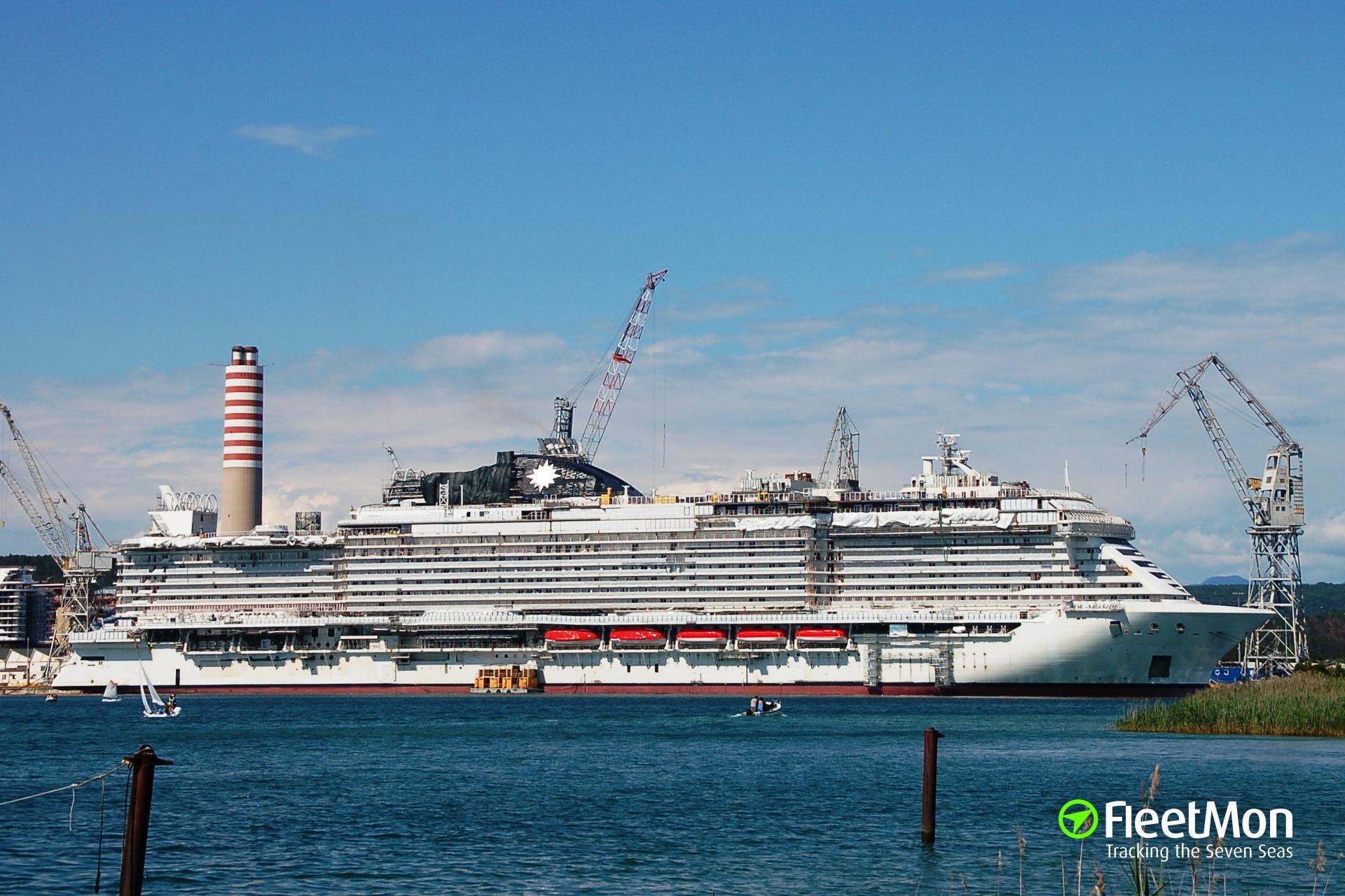 MSC SEASIDE is under construction In the FINCANTIERI shipyard of Panzano (Monfalcone) ITALY