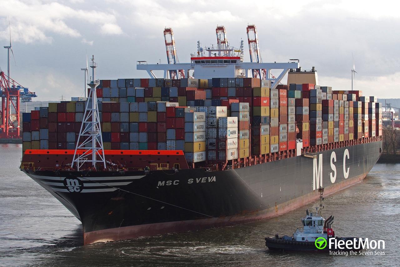 Vessel MSC SVEVA (Container ship) IMO 9708681, MMSI 374645000