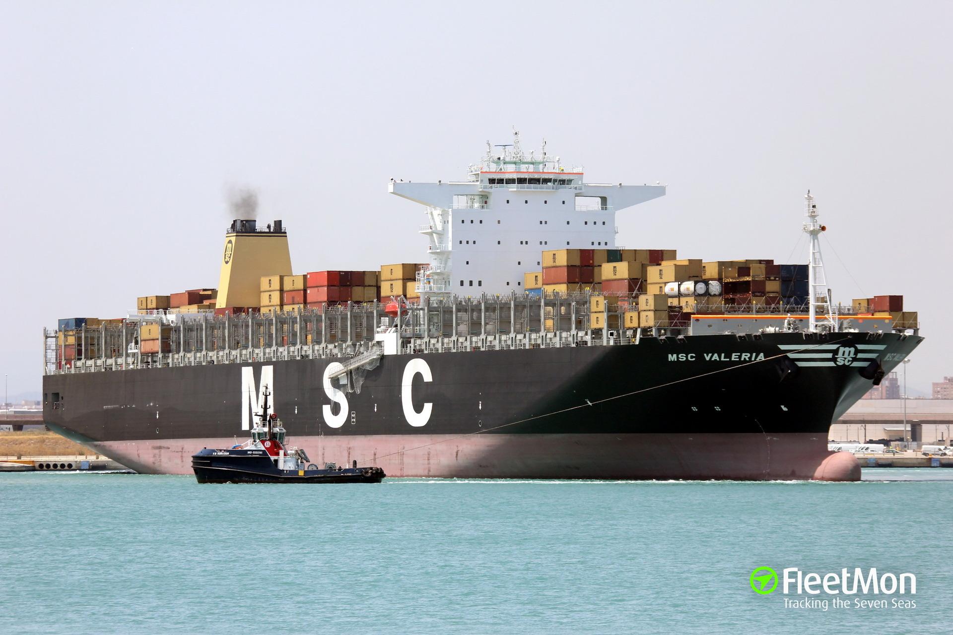 Photo of MSC VALERIA (IMO: 9461439, MMSI: 370341000