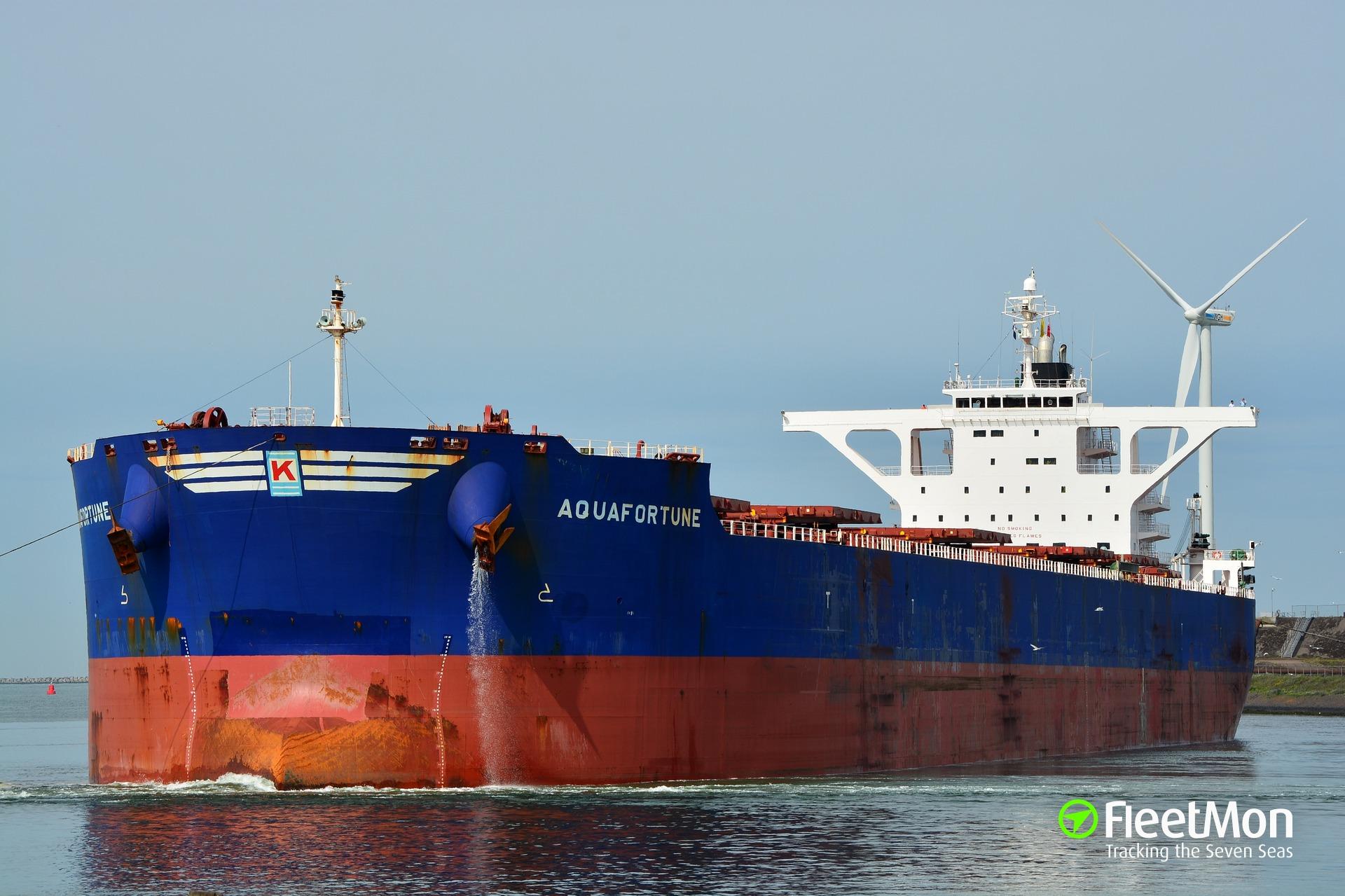 Capesize bulk carrier Aquafortune aground in Black sea