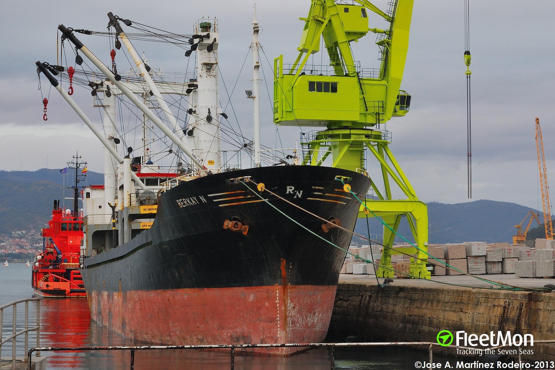 Chief engineer of freighter BERKAY N missing, SAR under way, Atlantic
