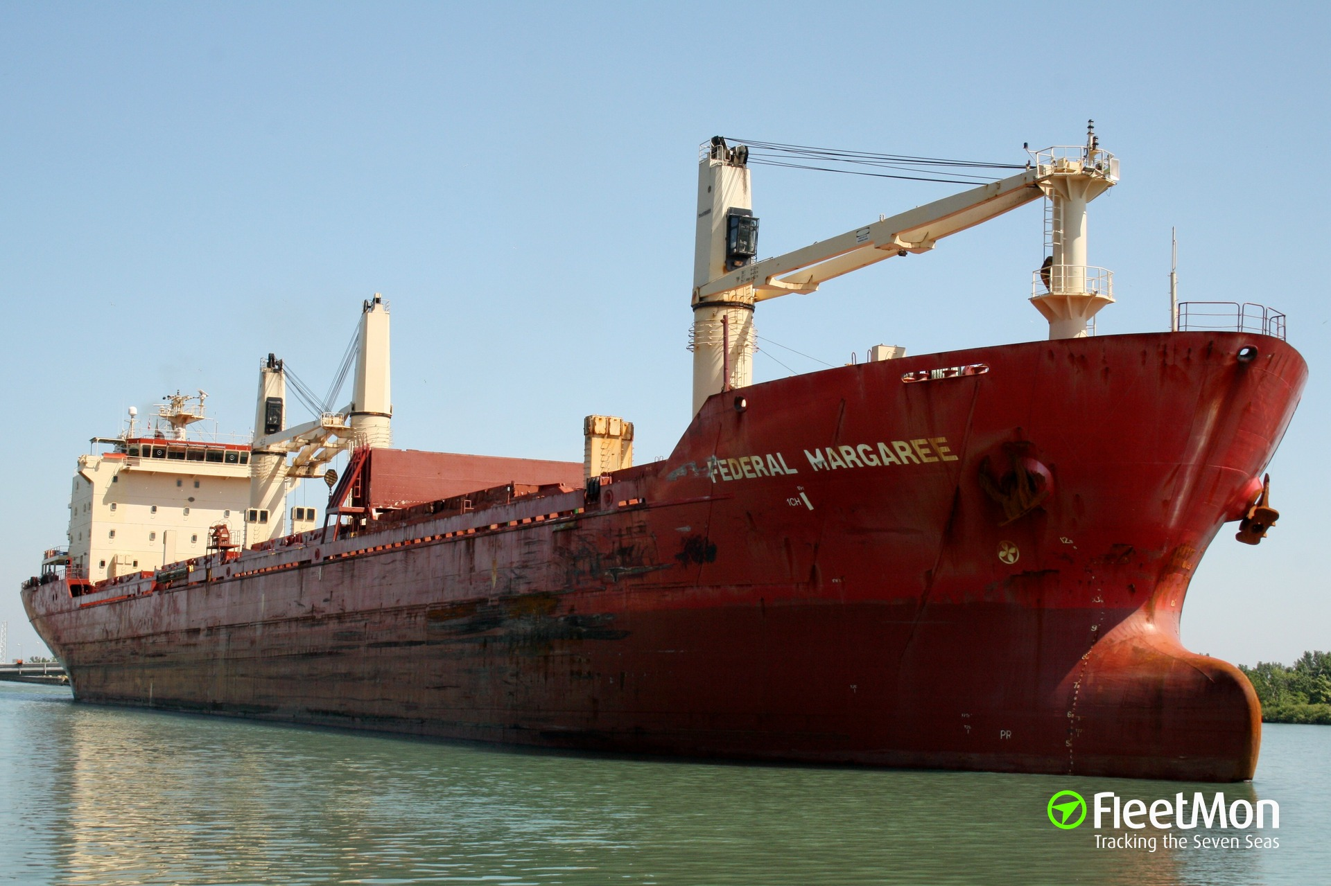 Fire in engine room of bulk carrier Federal Margaree, Great Lakes