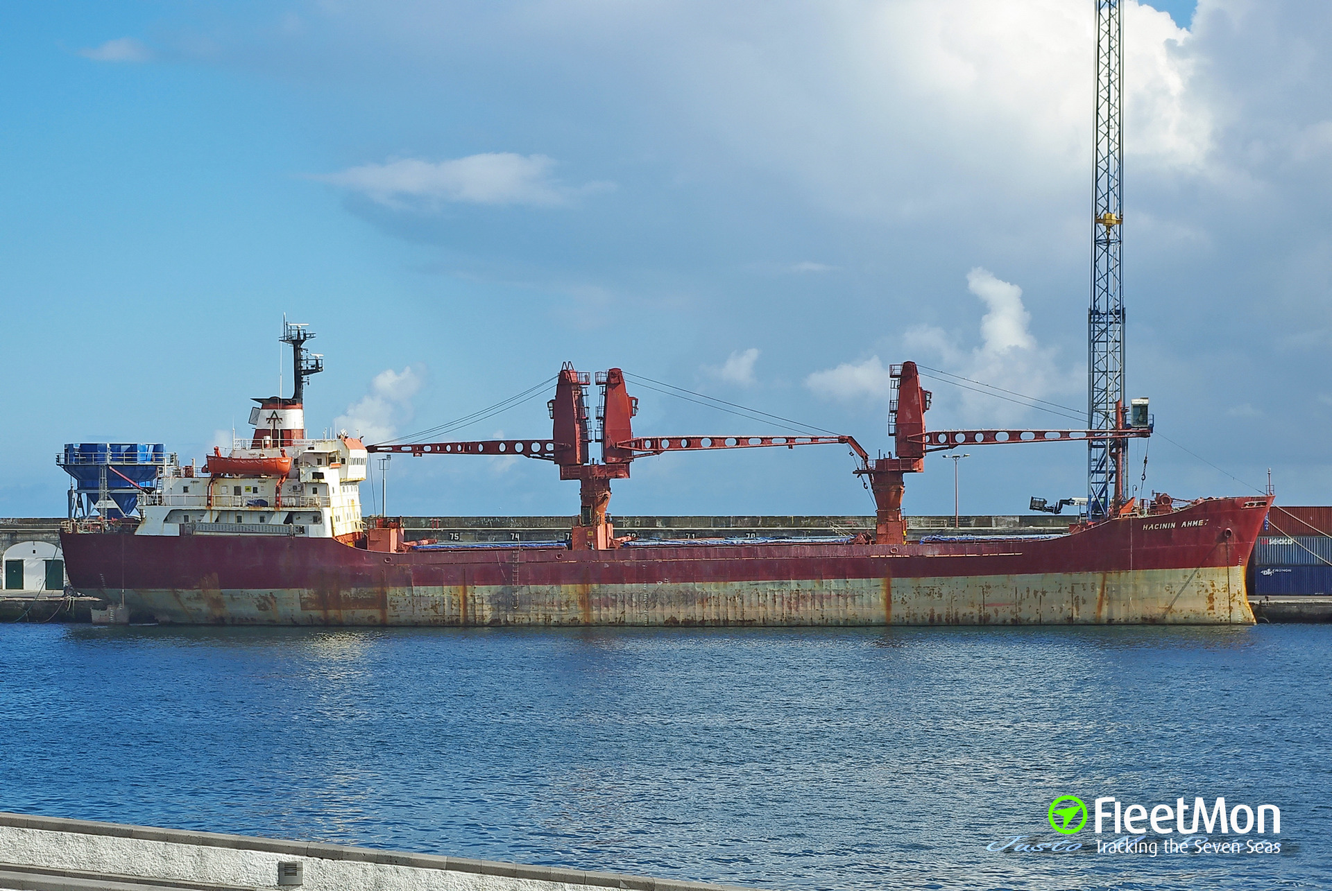 Troubled Turkish freighter Hacinin Ahmet reached Ponta Delgada, Azores