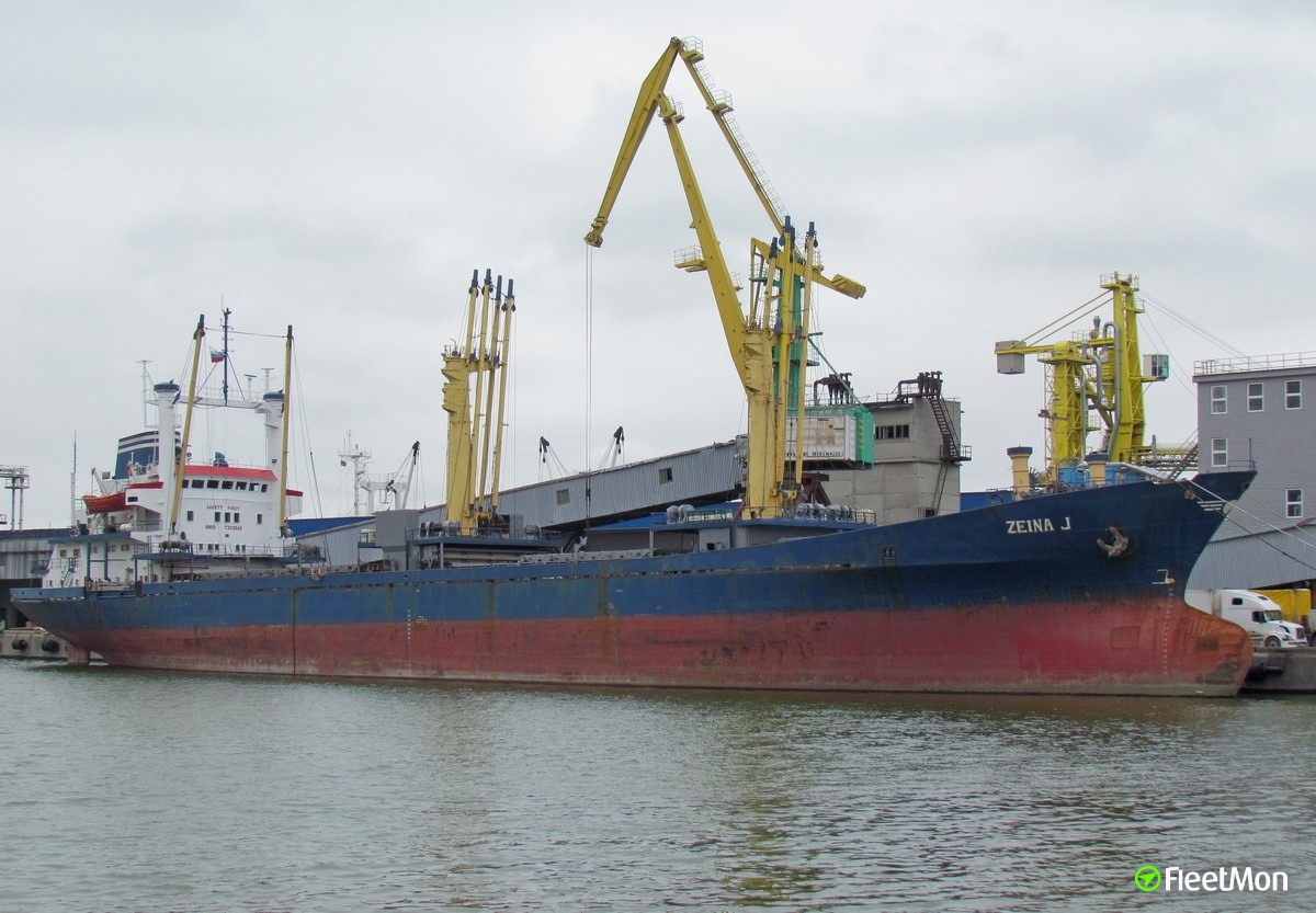 General cargo vessel ZEINA J grounding