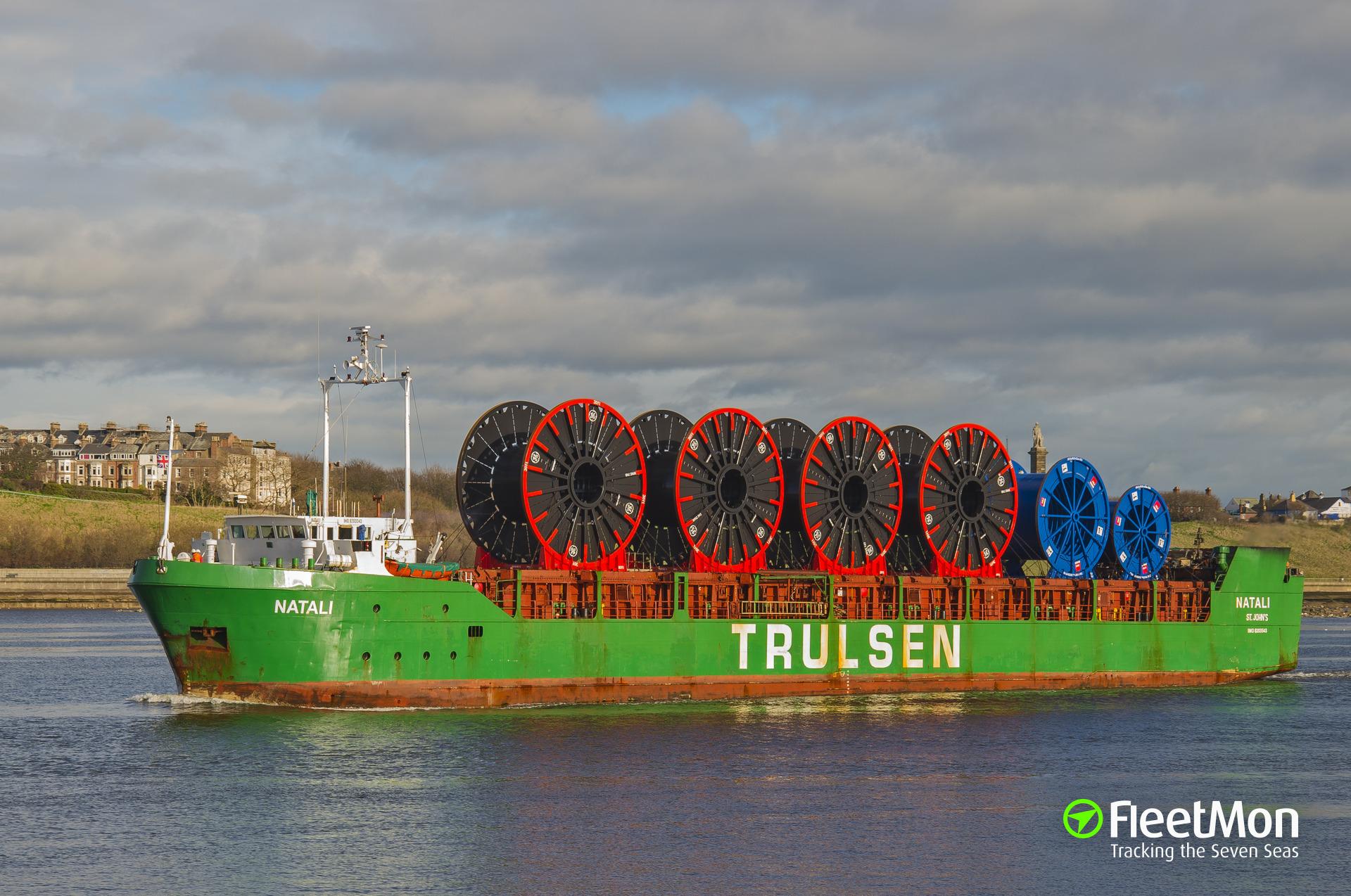 Natali in trouble in Kiel Canal