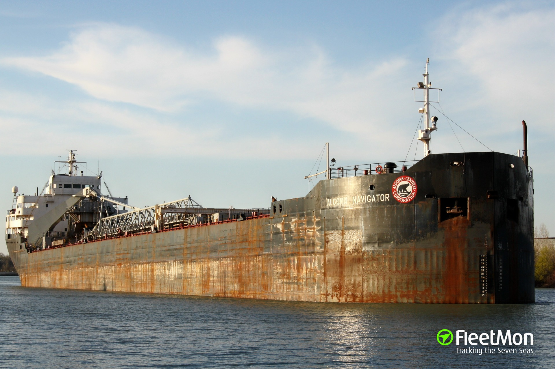 Laker Algoma Navigator maybe breached after contact