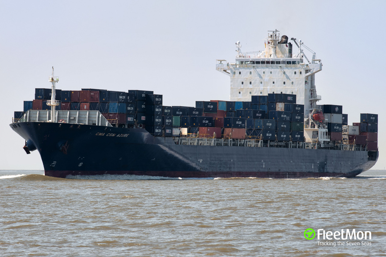 Vessel Navios Azure Container Ship Imo 9324851 Mmsi