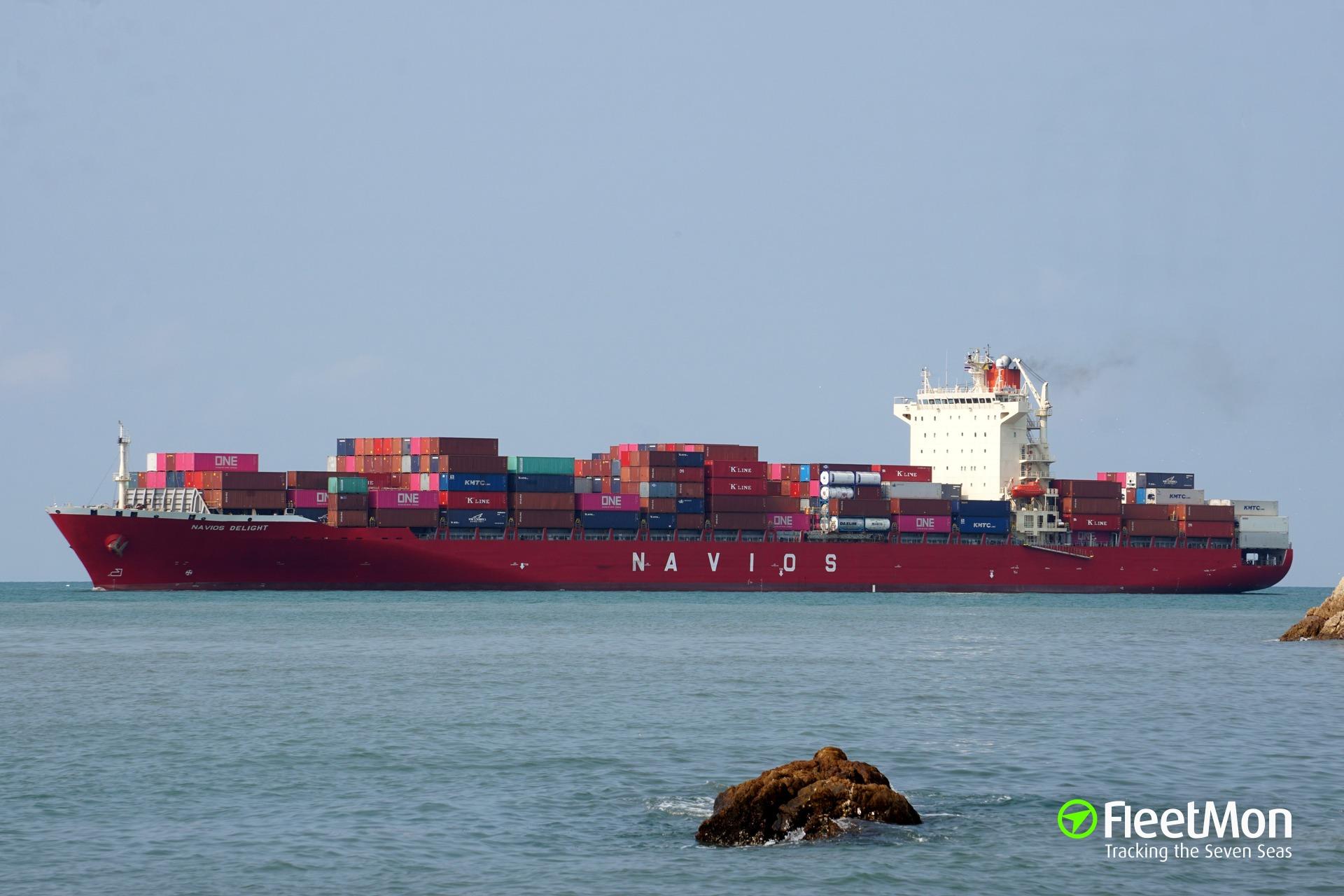 Vessel NAVIOS DELIGHT (Container ship) IMO 9352406, MMSI
