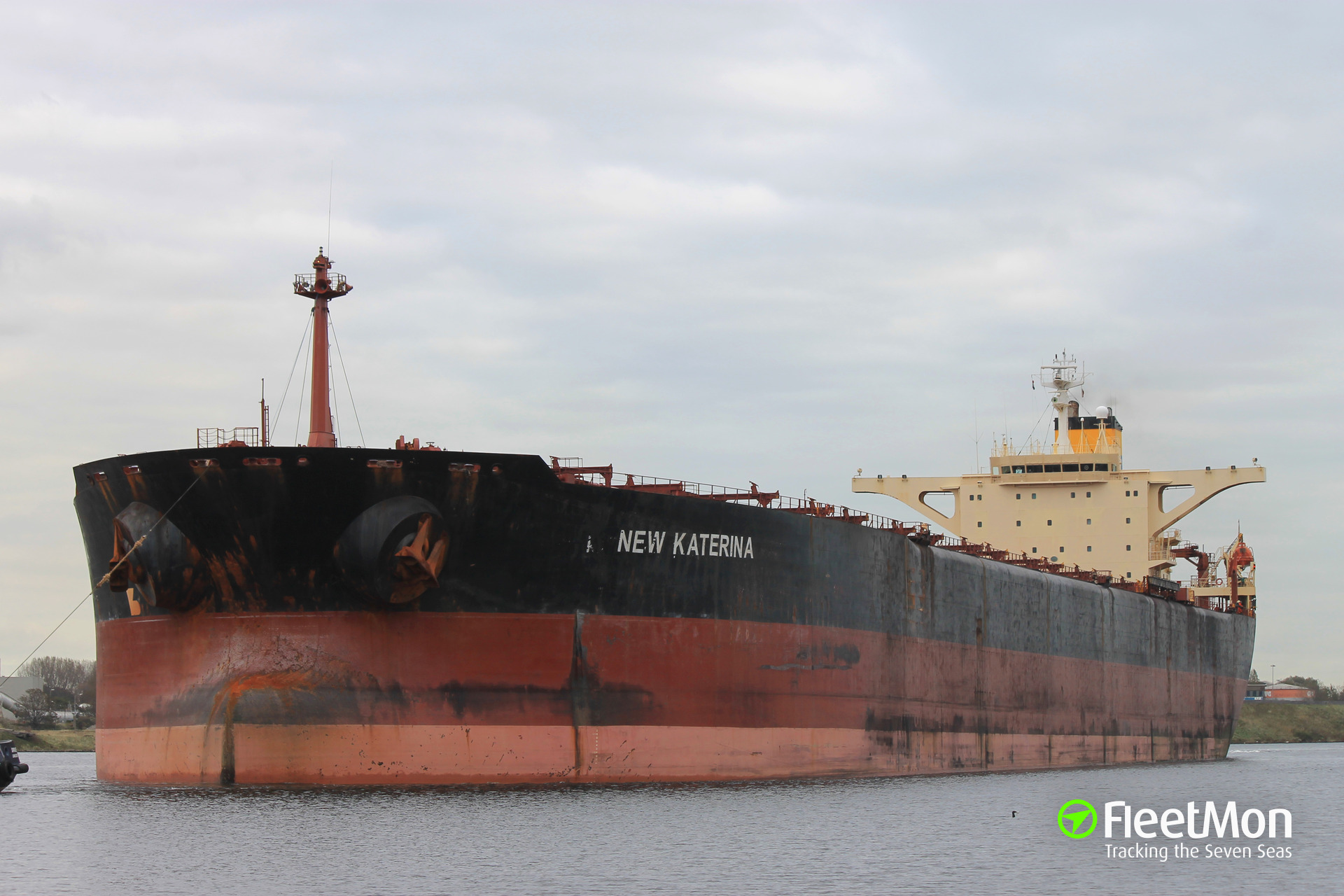 Bulk carrier New Katerina fire