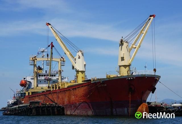 Explosions and fire in cargo ship hold, Hai Phong
